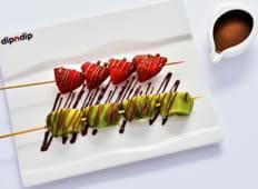 Brochettes de Fruits et autres Délices au Chocolat