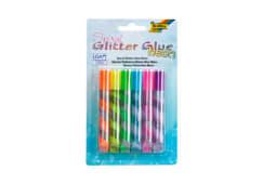 Blt.6 Tubos Cola Glitter Folia Spiral Neon 576