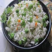 Plain Rice with Spring Onion