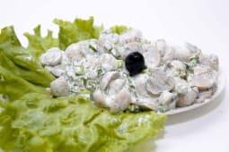 სოკოს სალათი მაიონეზით