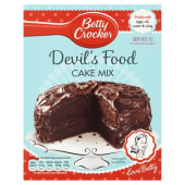 Betty Crocker Devil's food cake Mix Gluteen free