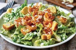 სალათი ცეზარი კრევეტებით
