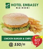 Buy 2 Chicken burgers+ chips Get 1 Free