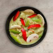 Pavo al curry verde
