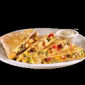 Grilled chicken & sausage quesadilla