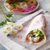 Shawarma de faláfel vegetariano