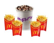 McFlurry XXL Oreo + 4 papas grandes