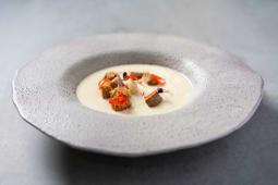 Supă cremă de cartofi cu praz (vegetarian)