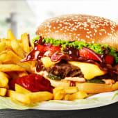 Platou American BBQ Burger de vită