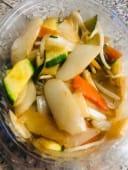 17.Gnocchi di riso con verdure miste