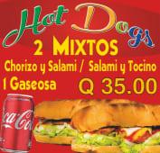 2 panes mixtos + Coca-Cola (330 ml.)