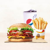Combo Whopper Queso y Bacon