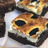 Brownie cheese de Oreo