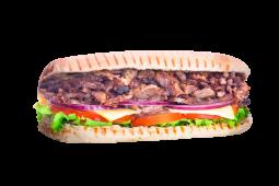 Sándwich de costillar asado (mediano)