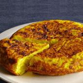 Tortilla de patatas con setas (mediana)