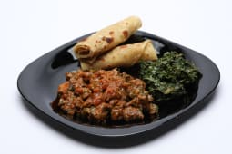 Chapati served with beef fry