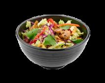 Салат овощной с терияки курицей и хрустящей лапшой (200 г)