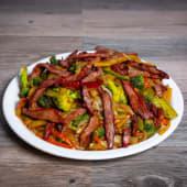 Chop suey cerdo asado
