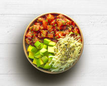 Poke bowl saumon teriyaki