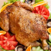 Pollo campero asado con ensalada LTC