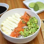 Chirashi salad salmón, palta y Philadelphia