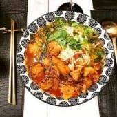 Soupe de vermicelles de riz au poulet pimenté Guizhou