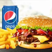 Meniu Mediu American BBQ burger