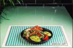 ქართული სალათი ყურძნის ზეთით