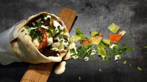 Kebab vita la lipie