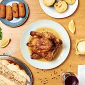 Combo 3: Pollo a l'ast entero, croquetas de pollo a l'ast y Canelón XL