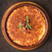 Запечений сир Сулугуні на кеці з рожевими томатами (380г)
