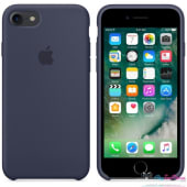 Coque Apple en Silicone Bleu Nuit