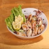Calamaritos plancha con salsa verde (1 ración)