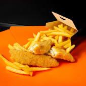 Fish & Chips - (обсмажена біла риба з картоплею фрі) (290г)