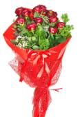 12 Rose Rosse e Decori