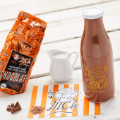 Botella de chocolate sin lactosa frio (500ml)
