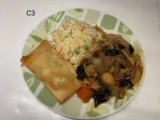 C3 - Arroz Chao Chao com Chop Suey de Vaca + 1 Crepe Chinês