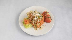 Som Tam With Shrimps