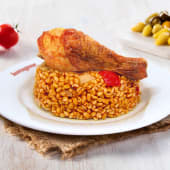 Tavuk Baget (1 Adet) + Bulgur Pilavı (200 Gr.)