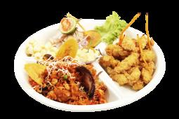 Combo 3 - ceviche de pescado + chicharrón de pescado + arroz mariscos