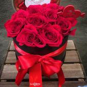 Caja de 10 rosas + bombones