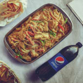 Yellow Sauce Pasta & Chicken Tray صينية باستا صوص أصفر بالدجاج
