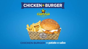 Chicken Burger + Patatine