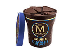 Tarrina Magnum double chocolate deluxe (440 ml.)