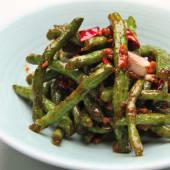 Judías Verdes de Yun-Nan con Hojas de Zanahoria Fermentadas