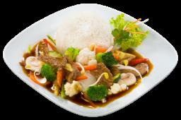 Smażona wołowina Chop-suey z warzywami