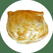 Empanada de cebolla, muzza y panceta
