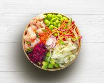 Poke bowl salmon tartare