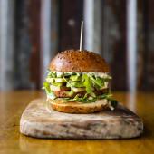 Avocado Veggie Burger Single