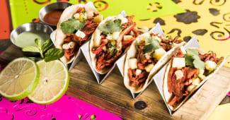 Tacos al pastor (4 porciones)